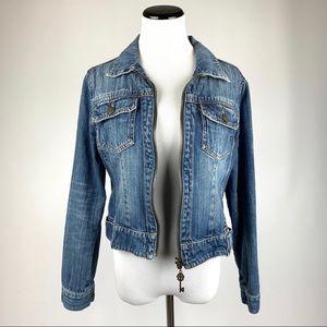 Cabi full zip jean jacket L